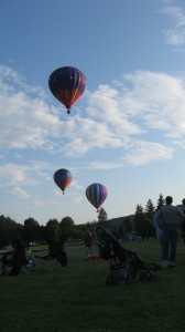 "Hot air balloons at the ""Welcome Back"" picnic"