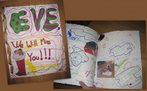 Eve's goodbye card