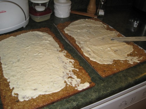 Cookie bars with frosting