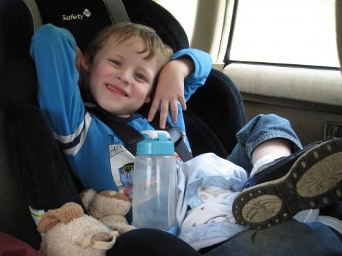 Goofy in the car