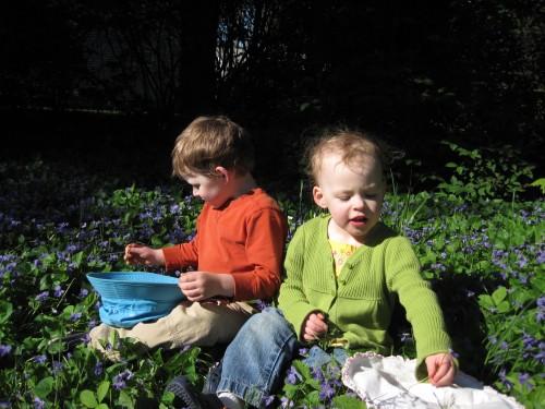 Kids in flowers - 1