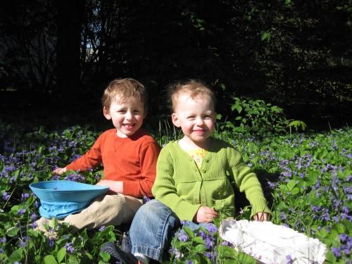 Kids in flowers - 2