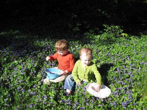 Kids in flowers - 5