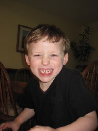 One happy boy