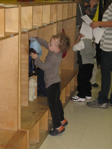 hanging up her hat