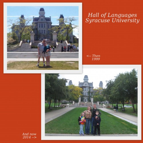 Hall of Languages - Then and Now