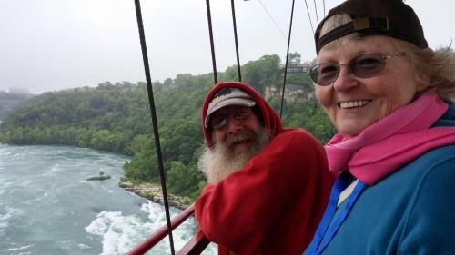 Mema and Grandpa Tom, enjoying the view!  Not too scary.