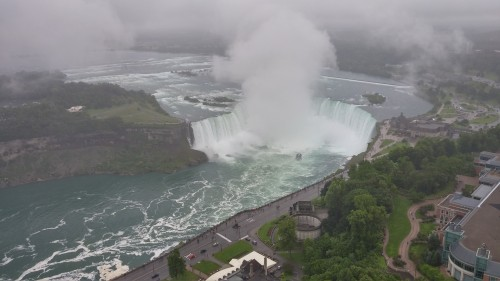 The Horseshoe Falls as seen from the Skylon Tower.