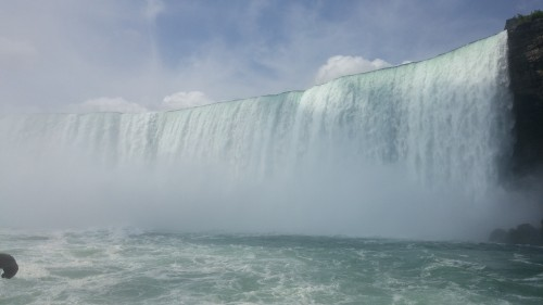 The Canadian Falls, from the Hornblower Cruise.