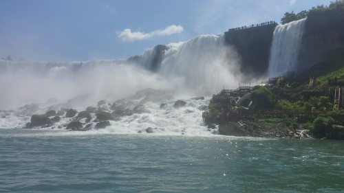 The American Falls, from the Hornblower Cruise.