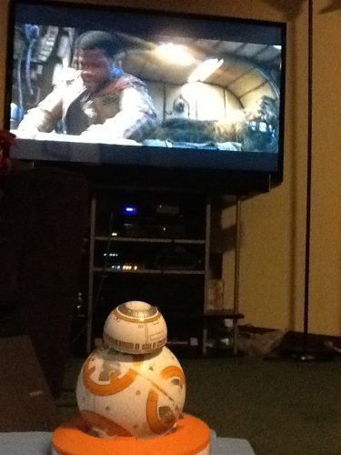 BB8 likes watching Star Wars!  :)